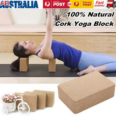100% Natural Cork Yoga Block Home Exercise Practice Fitness Tools 7.5*12*22.5CM