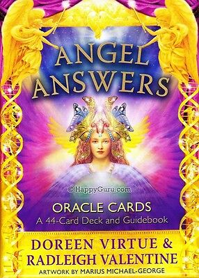 """""""angel Answers"""" By Doreen Virtue & Radleigh Valentine (Oracle Cards)"""