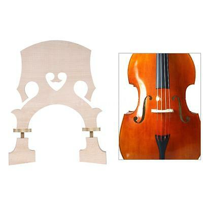 3/4 Size Maple Bridge Replacement for Double Bass Adjustable+Free Ship Hot M4X2