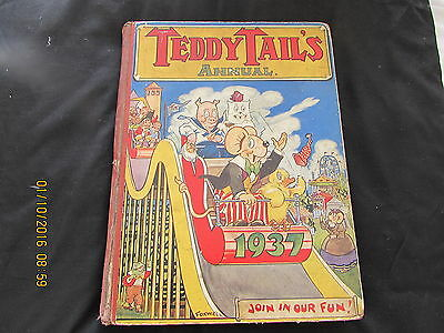 Teddy   Tail's  Annual  1937  Very  Good  For  Age