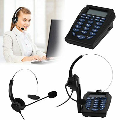 Head Telephone With Corded Headset Earphone Call Center Phone Dial Pad HT-710 SA