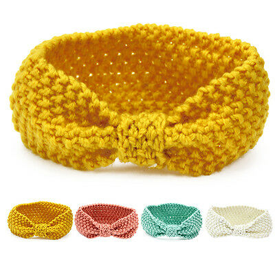 Kids Baby Toddler Girl Crochet Knitted Accessories Hair Band Wrap Bow Headband