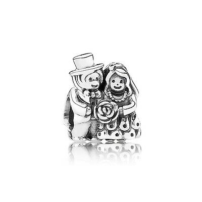 Authentic Pandora Charm Sterling Silver Sterling Silver Mr & Mrs Bead 791116