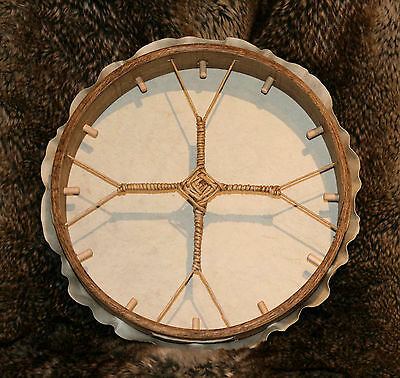 """10"""" Shamanic Drum made with Reindeer Skin - supplied with beater"""