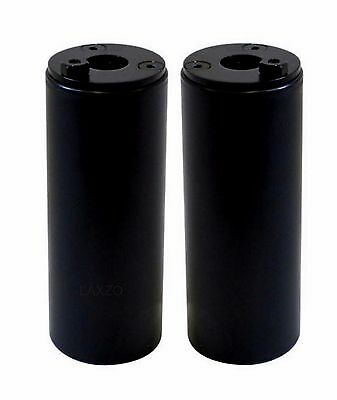 Savage 100x40mm Nylon BMX Stunt Pegs Black w End Caps 10 & 14mm Axle