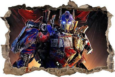 Optimus Prime Transformers Smashed Wall Decal Graphic Sticker Art Mural J60