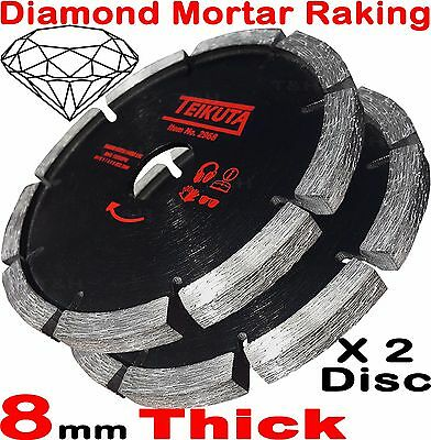 "2X Mortar Raking Disc 115mm 41/2"" Diamond Mortar Raking Blade Angle Grinder Disc"