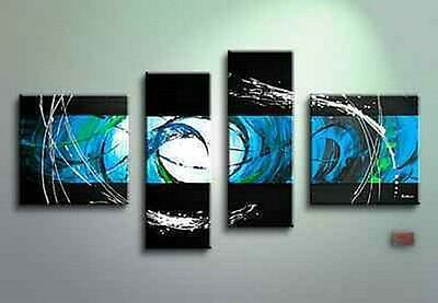 Modern Abstract Huge Wall Decor Oil Painting On Art Canvas 4pc (no framed)