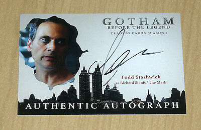 2017 Cryptozoic Gotham season 2 autograph Todd Stashwick RICHARD SIONIS THE MASK