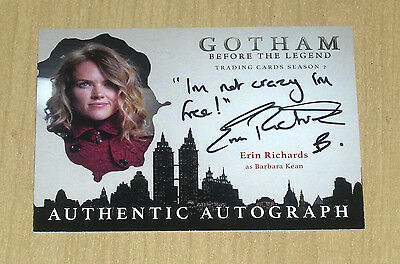 2017 Cryptozoic Gotham season 2 autograph card Erin Richards as BARBARA KEAN VAR