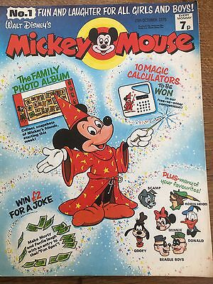 Rare Vintage No 1 FIRST ISSUE Walt Disney's Mickey Mouse 1975 Comic Disneyana