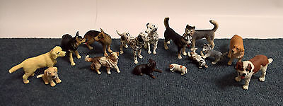 SCHLEICH and Blip Lot of 15 Dogs EUC