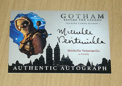 2017 Cryptozoic Gotham season 2 autograph Michelle Veintimilla as FIREFLY