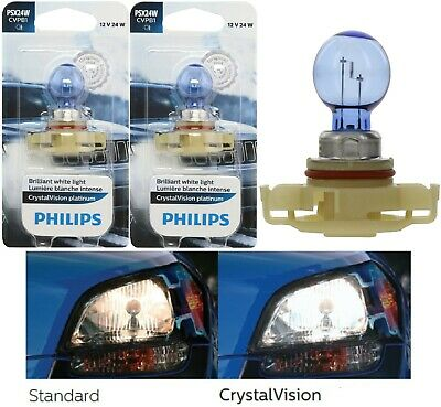 Philips Crystal Vision Ultra 12276 2504 PSX24W 24W Fog Light Bulb Replacement