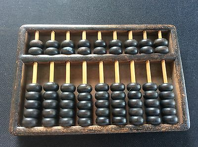 c1900 Chinese Asian Oriental Abacus c19th / c20th Wood Wooden 63 Counters VGC