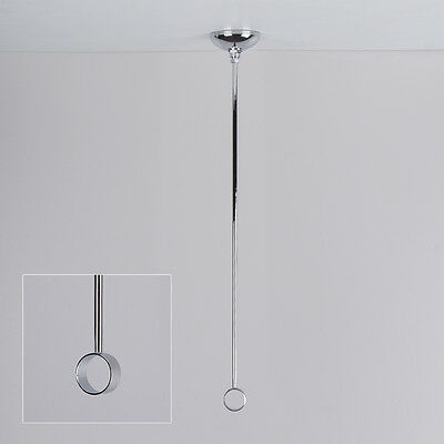 Modern Bathroom Shower Curtain Rail Ceiling Support - Polished Chrome - 18""
