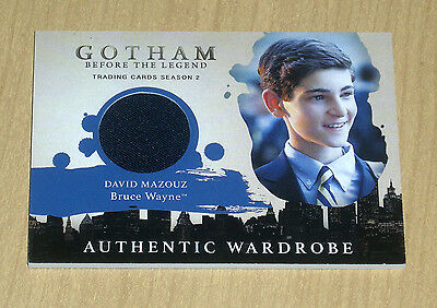 2017 Cryptozoic Gotham season 2 wardrobe costume David Mazouz as BRUCE WAYNE M02