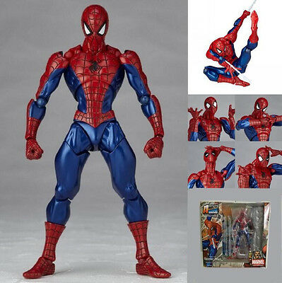 "Amazing Spider-Man Revoltech Series No.002 6"" PVC Action Figure Toy Gift"