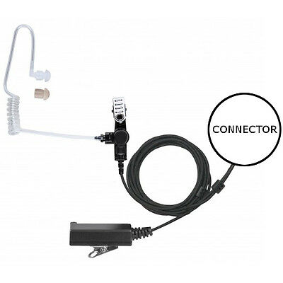 2-WIRE ACOUSTIC TUBE Earpiece Clip-On PTT / Mic for Hytera Radios ...