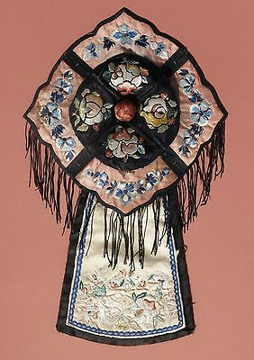 A Rare Chinese Silk Embroidered Hat, Qing Dynasty