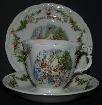 Royal Doulton Brambly Hedge Merry Midwinter Trio Cup Saucer and Side Plate