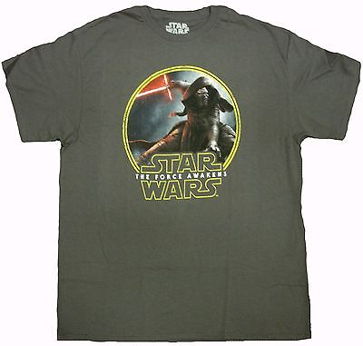 Space Galaxy Jedi Yoda Official Star Wars Red Logo Adult T-Shirt