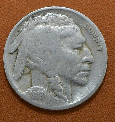 1918 Buffalo Nickel Great Condition Very Old F18
