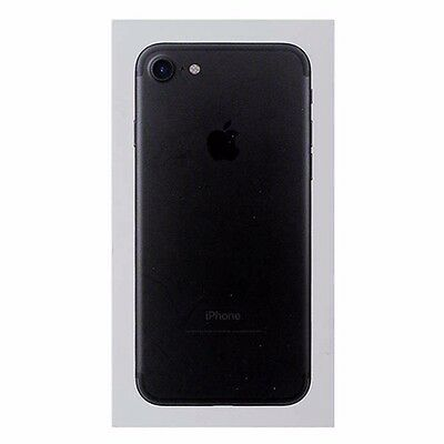 APPLE IPHONE 7 Box Only w/ Tray No Manual - NO PHONE - BLACK-128GB