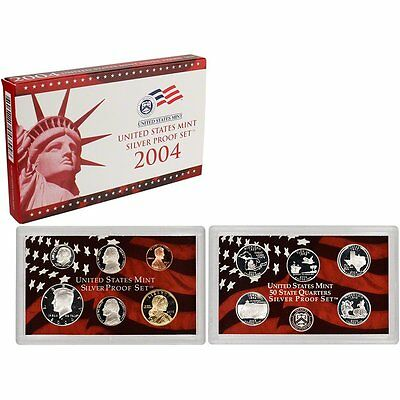 2004-S 90% Silver Proof Set United States Mint Original Government Packaging Box