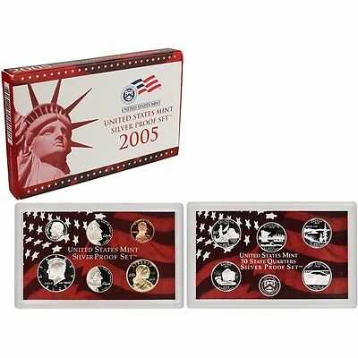 2005-S 90% Silver Proof Set United States Mint Original Government Packaging Box