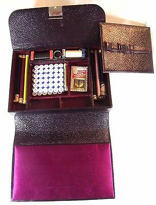 **** Beautiful Leather German Antique Sewing Kit *****