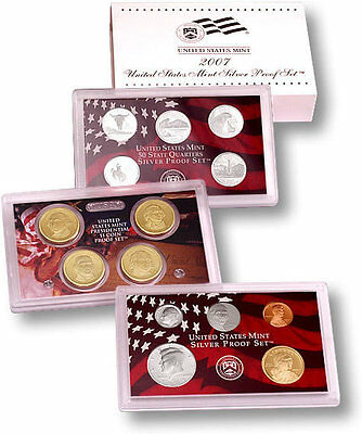 2007-S 90% Silver Proof Set United States Mint Original Government Packaging Box