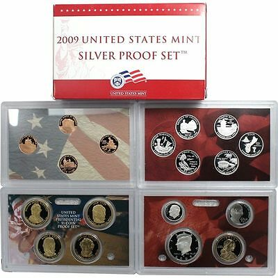 2009-S 90% Silver Proof Set United States Mint Original Government Packaging Box