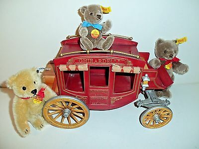 Ghirardelli Chocolate Co Stagecoach Carriage Wheels Complete Old West Doll Bear