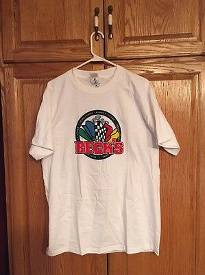 Becks Hybrid Seed Corn Tee Shirt NOS Large