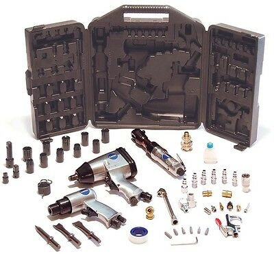 50-Piece Air Compressor Impact Wrench And Accessory Tool Kit w Storage Case New