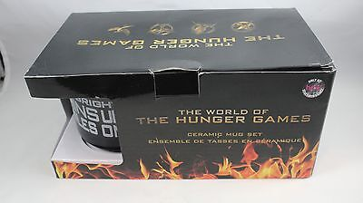 The Hunger Games Black Coffee Tea Mugs Official Set Of 2 New Open Box