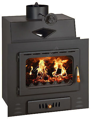13kw.Wood Burning Stove Insert Inset Modern Multifuel Built In Fireplace Prity M