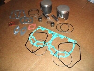 Skidoo 700 Dual Twin Ring Pistons Bearings Gaskets Set New 1999-04 Rotax Sled