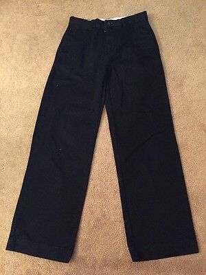 Boys Ralph Lauren Navy Blue Chino Trousers Size 12 VGC !