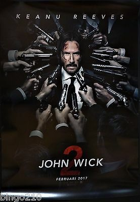 John Wick Chapter 2 Original 2017 Cinema 1 Sheet Poster Keanu Reeves Ruby Rose