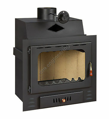 16kw.Wood Burning Stove Insert Inset Modern Multifuel Built In Fireplace Prity G