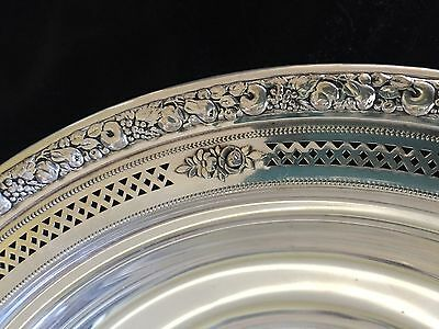 """9 1/4"""" WALLACE 4093-3 sterling silver serving bowl. Beautiful!"""