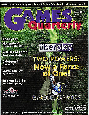 Games Quarterly Magazine Summer 2004 #2 nm-m new unread Entertainment Guide H27