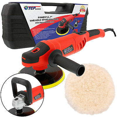 "7"" Variable Speed Polisher Buffer, Digital RPM Display; Polish Buff Auto Detail"