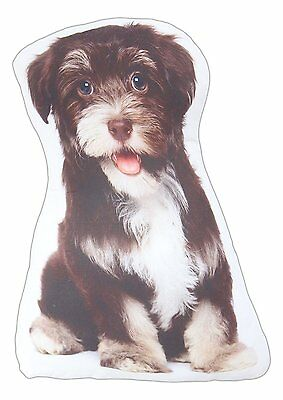 "Bearded Collie Throw Pillow Puppy Dog New 14.5"" High Polyester Dogs"