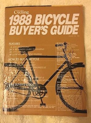 Nos Vintage Collectible 1988 Sport Cycling Bicycle Buyer's Guide Bmx / Freestyle