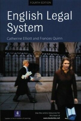English Legal System by Quinn, Frances Paperback Book The Cheap Fast Free Post