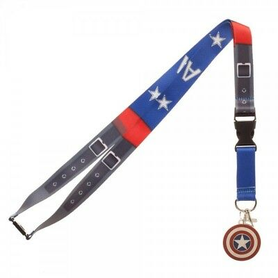 Authentic MARVEL Captain America Suit Up Printed Allover Lanyard ID Holder NEW