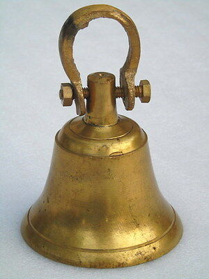 Vintage Brass Bell With Clapper And Hook Luncheon Boat Yacht Ship